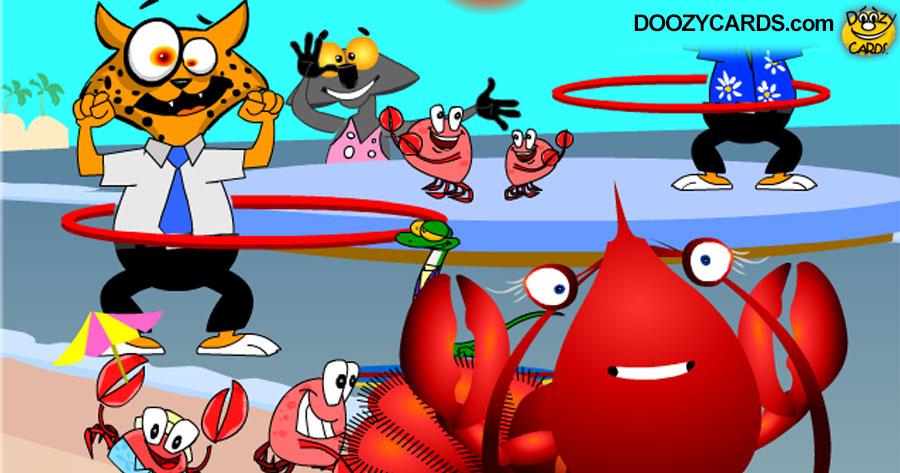 Lobster T.G.I.F. Ecard
