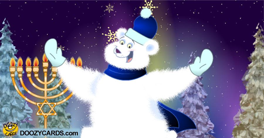 Hanukah Polar Bear Hug
