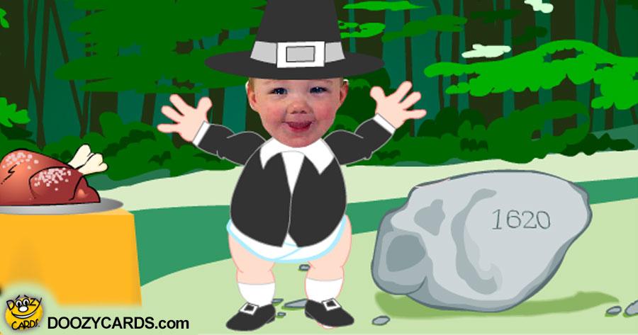 Baby Thanksgiving ecard