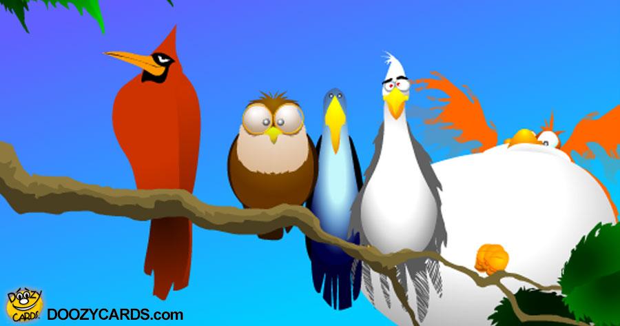 Doozy Birds Sing ecard
