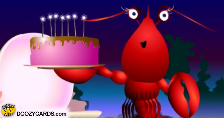 Larry Lobster Birthday Card