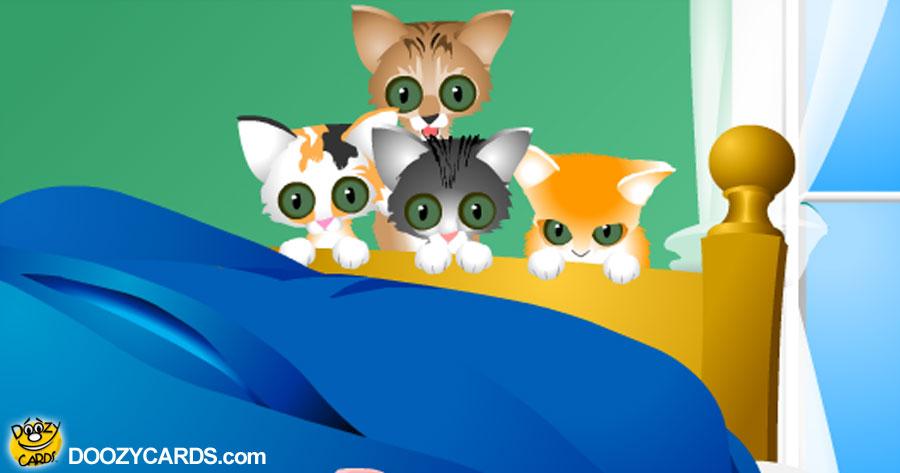 Doozy Kittens Get Well ecard