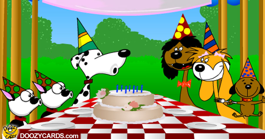 Birthday Singing Dogs View The Popular ECard