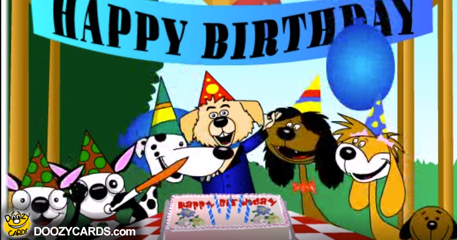 Dog Birthday e card