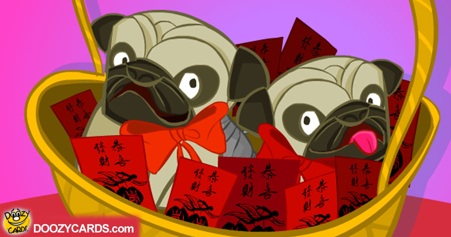 Chinese New Year Pugs