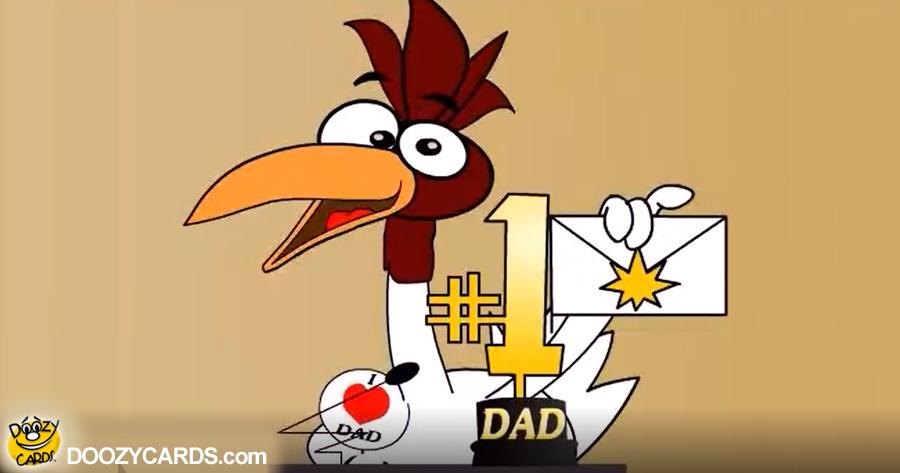 Happy Bday DAD Award e-card