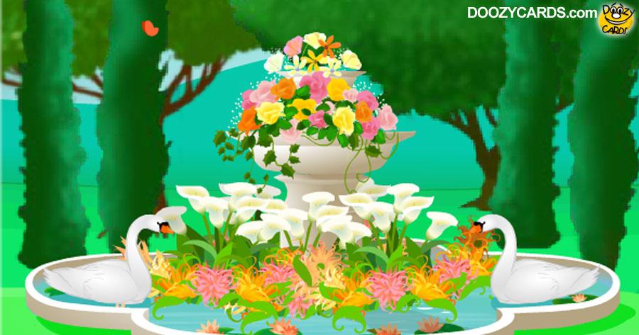 English Garden Anniversary Ecard