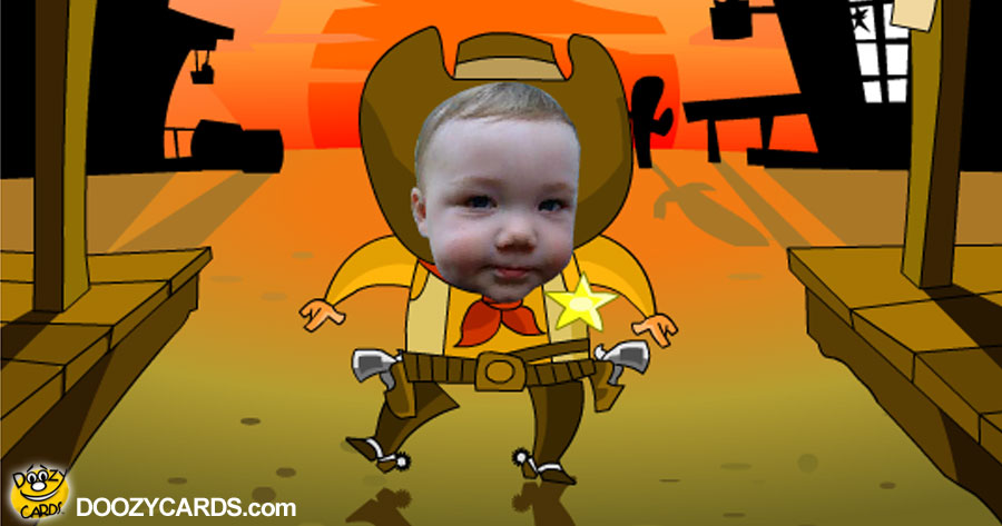 Cowboy Hugs and Kisses  E-card