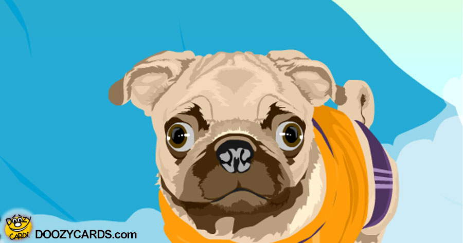 Talking Surfing Pug