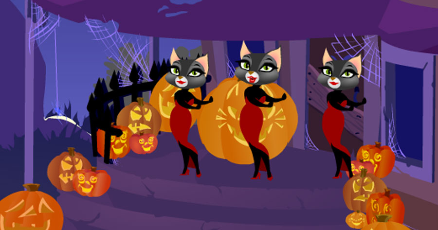 Singing Halloween Kitties