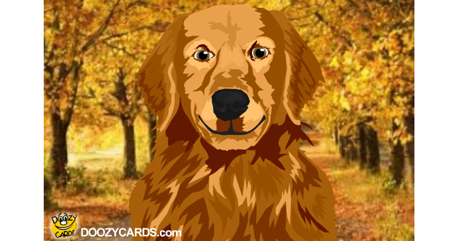 Talking Autumn Golden Retriever