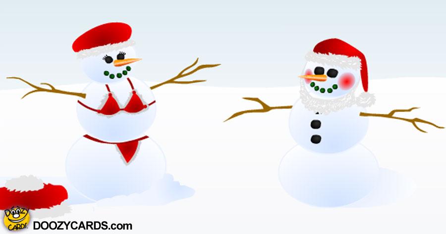 Sexy Snowman e Card