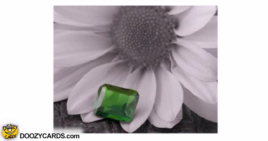 May Emerald Birthday ecard