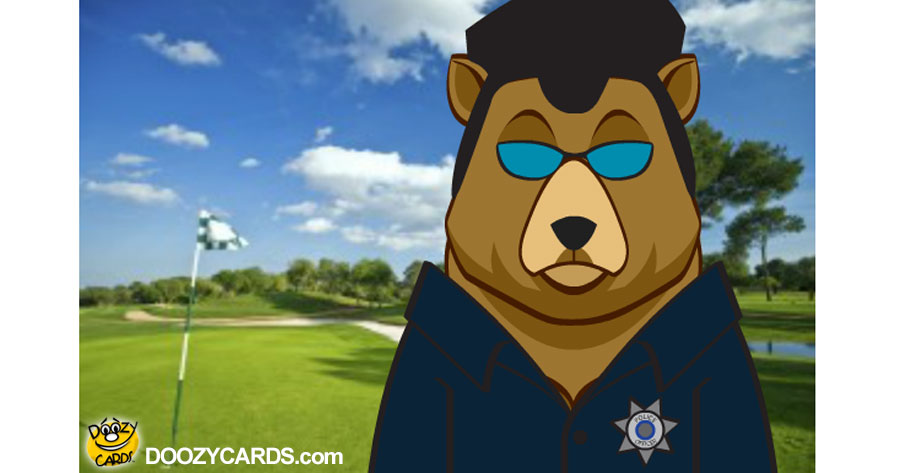 Talking Golf Bear