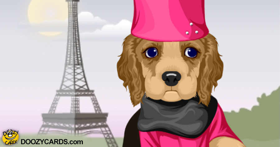 Talking Lady Spaniel in Paris