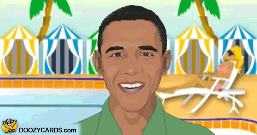 Talking Obama on the Beach