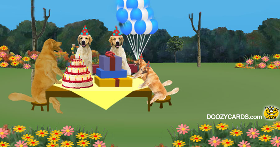Birthday Golden Retrievers
