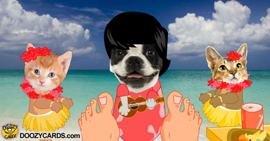 Hawaiian Doggie Fathers Day
