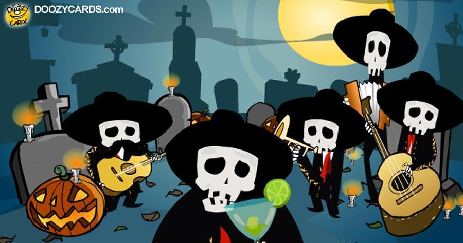Dia de los Muertos Mariachi Skeletons