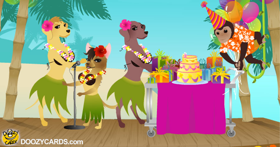 Tropical Dogs Birthday by Dionne Warwick