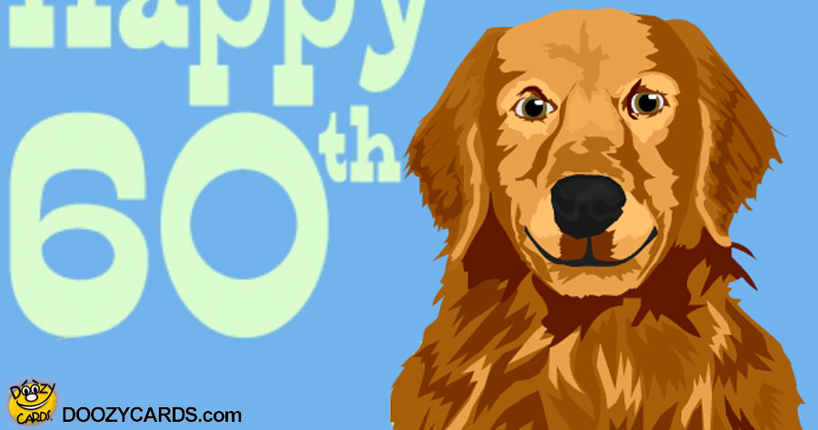 Talking 60th Birthday Retriever