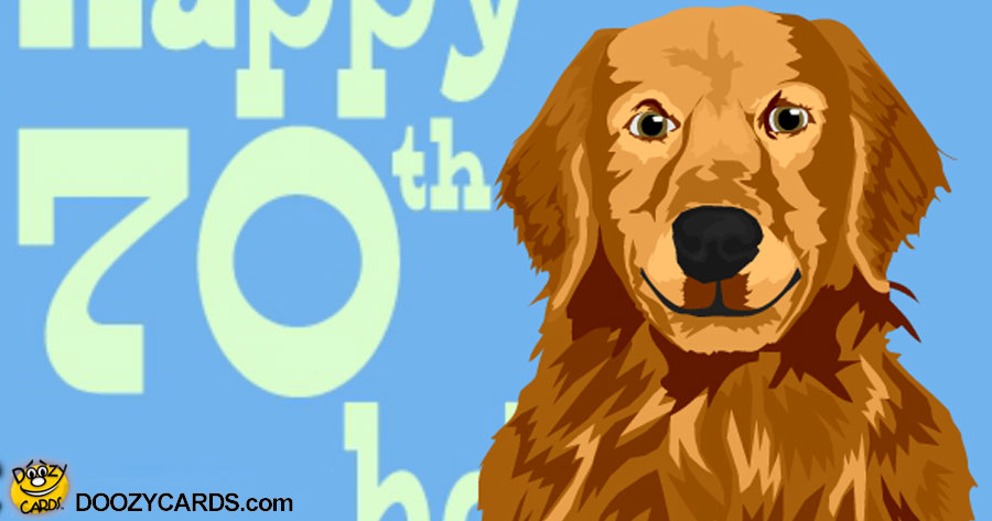 Talking 70th Birthday Retriever