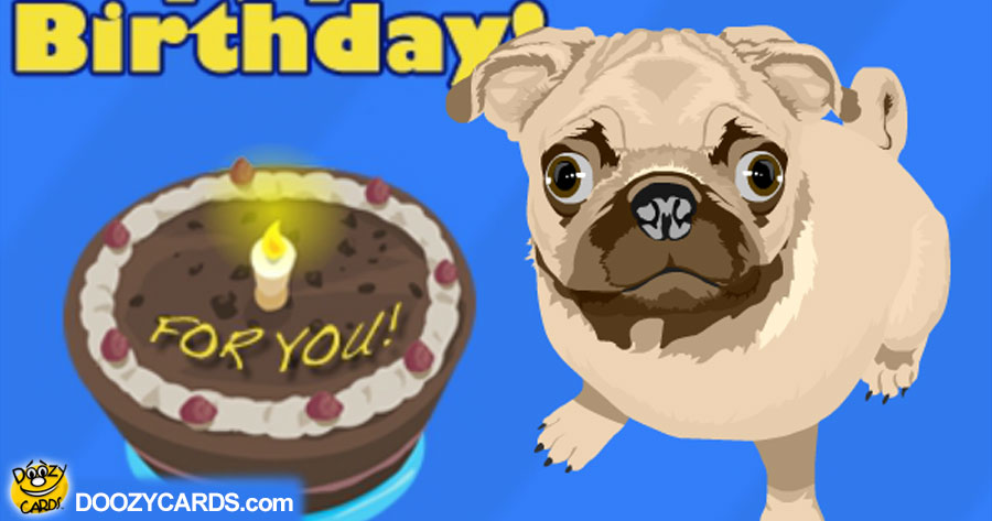 Talking 50th Birthday Pug