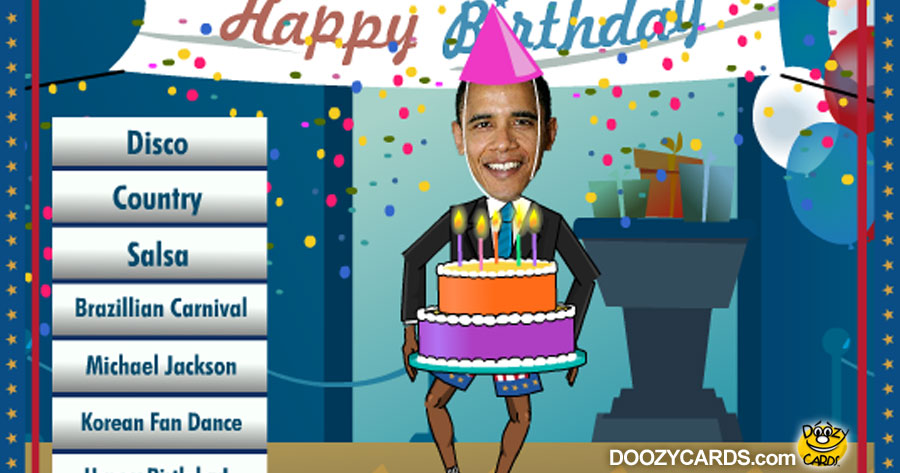 Birthday Dancing Obama