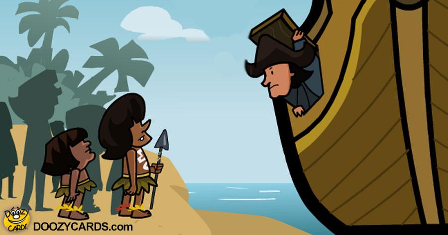 Columbus Finds India