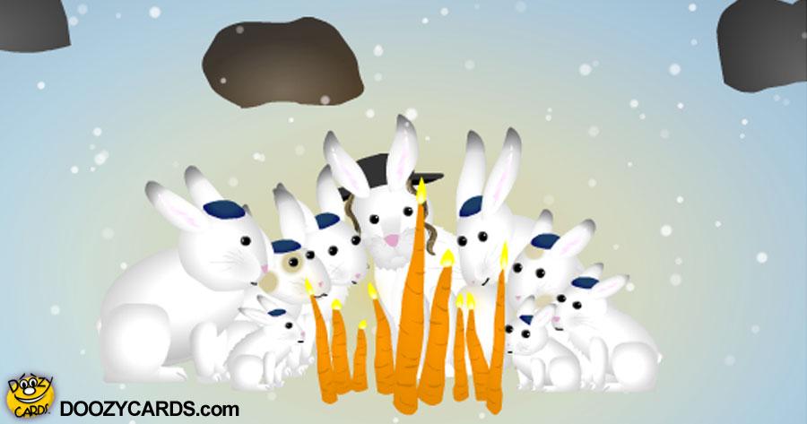 Bunny Menorah