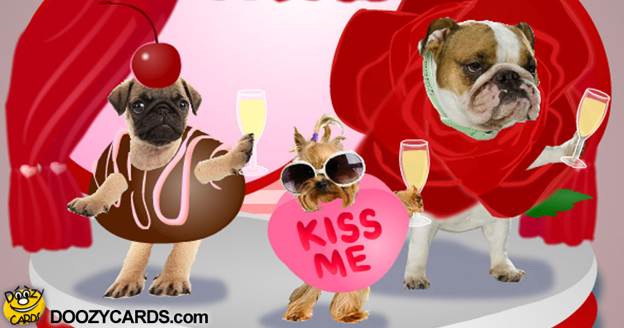 Dancing Valentine Doggies