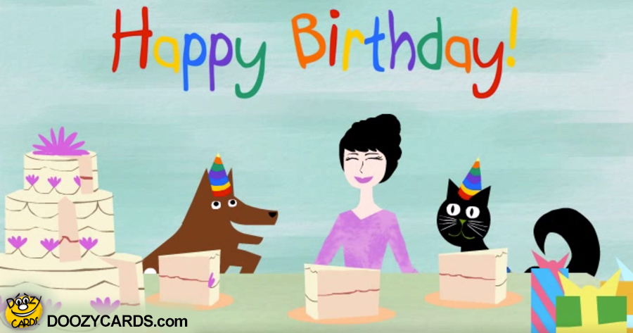 Birthday Cat & Dog