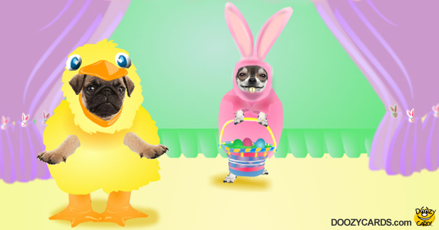 Dancing Easter Doggies