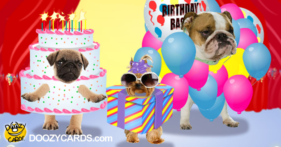 Birthday Dancing Doggies for 40th