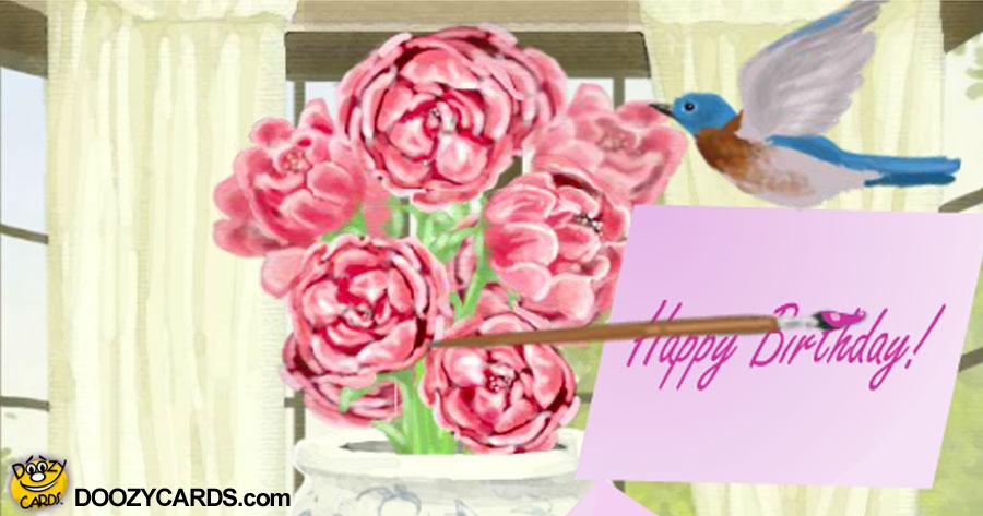 70th Birthday Peony Bouquet