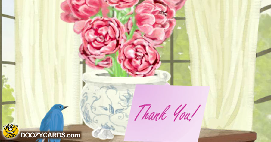 Peony Bouquet Thank You