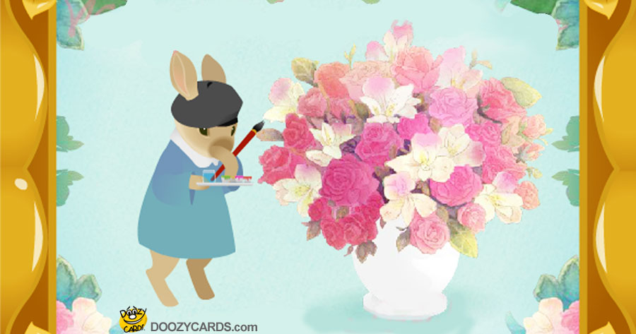 Bunny Bouquet Wedding Congratulations
