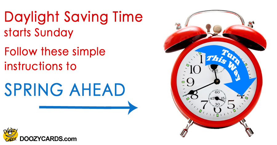 Daylight Saving Time Instructions