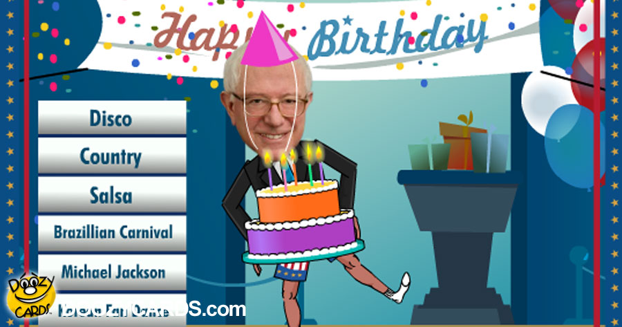 Birthday Dancing Bernie Sanders