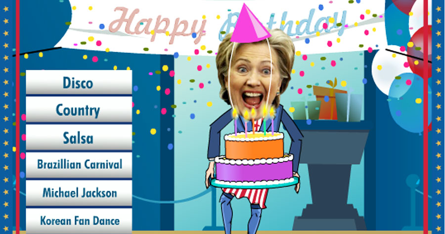Birthday Dancing Hillary Clinton
