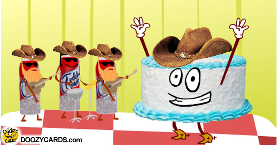 Country Singing Birthday Cake