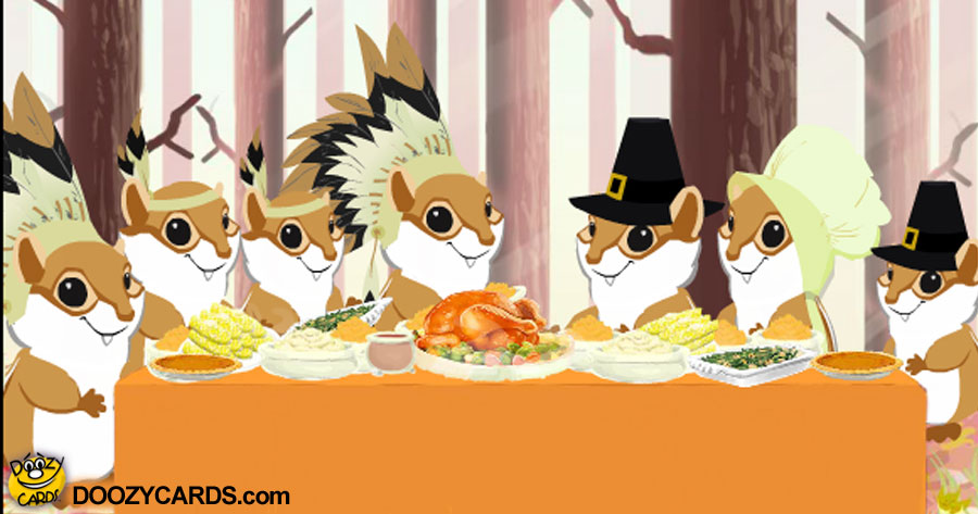 Thanksgiving Chipmunk Blessing