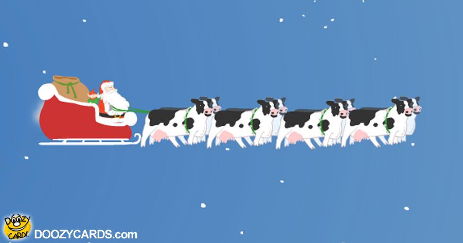 Santa's Christmas Cows