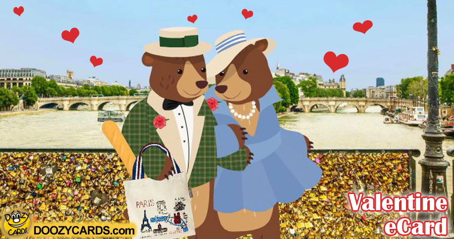 Valentine Bears in Paris