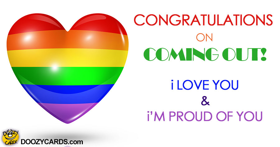 Congratulations on Coming Out