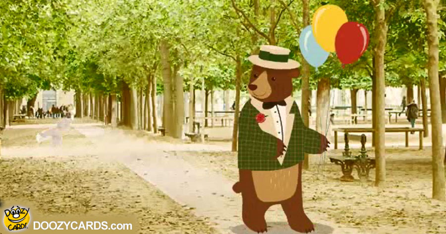 Birthday Bear in Paris for Him