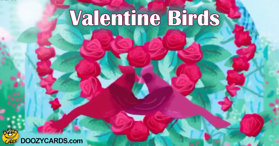 Valentine Birds for Aunt