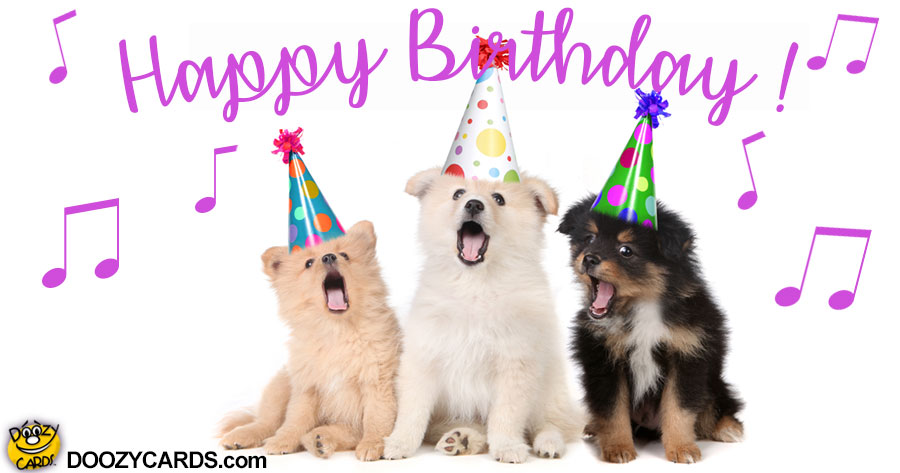 Crooning Birthday Dogs