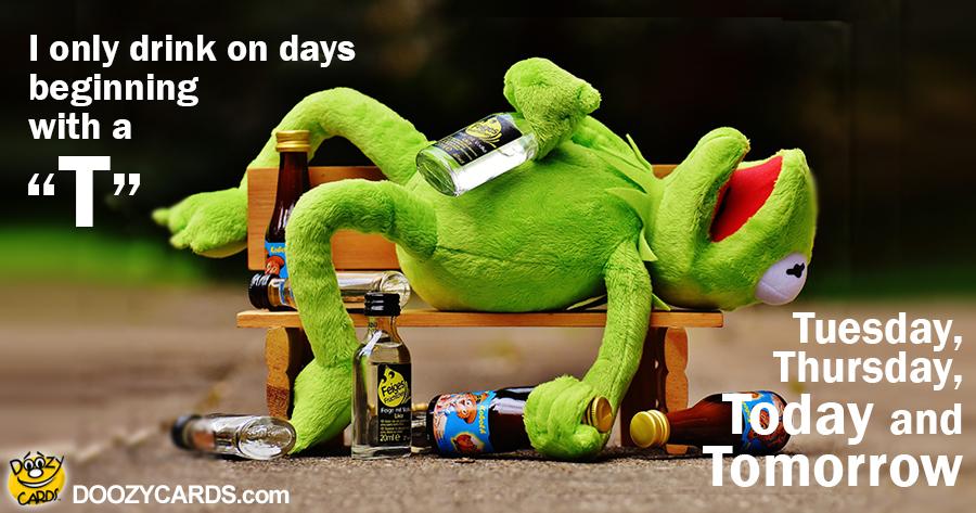 Drinking Kermit