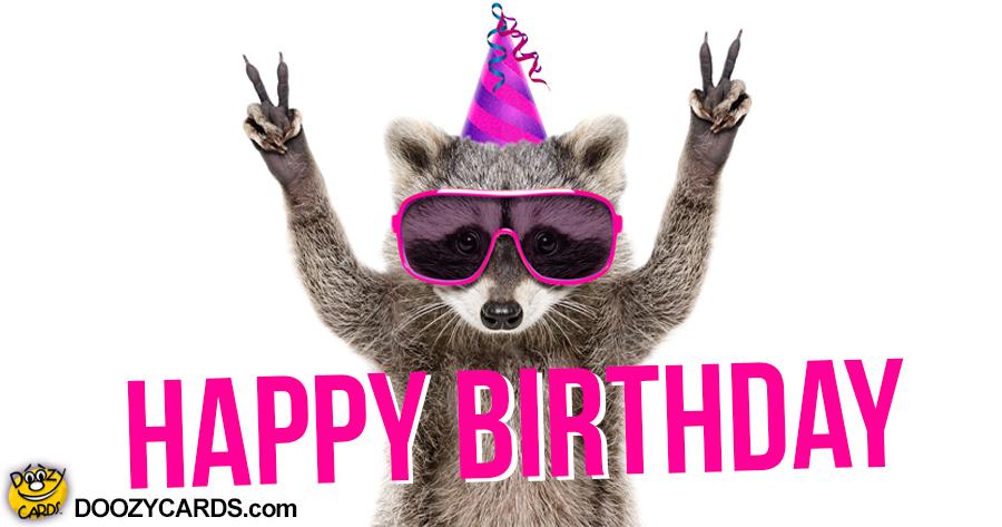 Birthday Raccoon